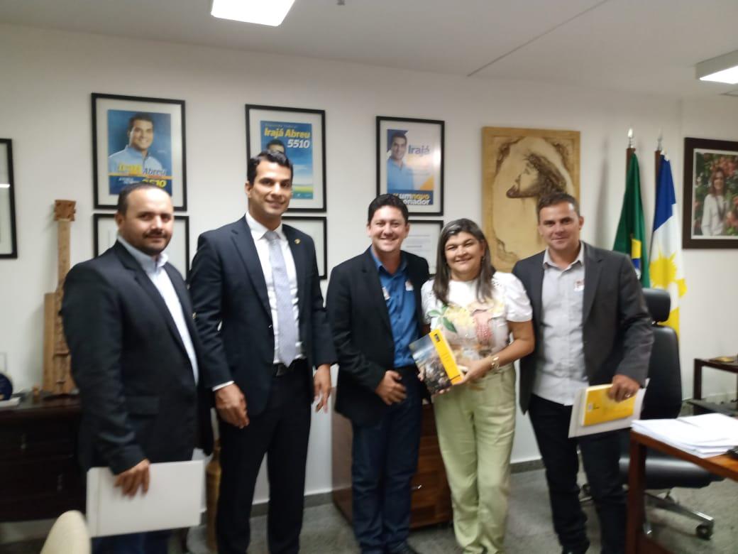 Prefeito e vereadores articulam recursos em Brasília para o município de Barrolândia