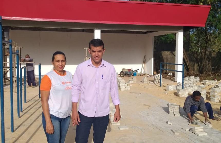 Prefeito de Marianópolis anuncia que a construção da Academia de Saúde está sendo finalizada