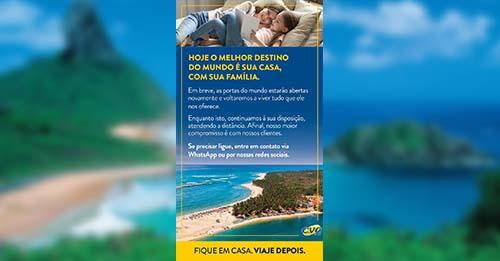 """Com atendimento pelo WhatsApp, CVC de Paraíso do Tocantins recomenda: """"Fique em casa, viaje depois"""""""
