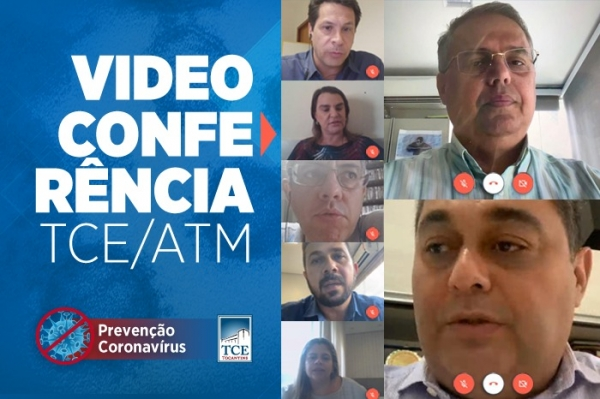 Ações diante da pandemia pautam reunião entre Tribunal de Contas do Tocantins e ATM