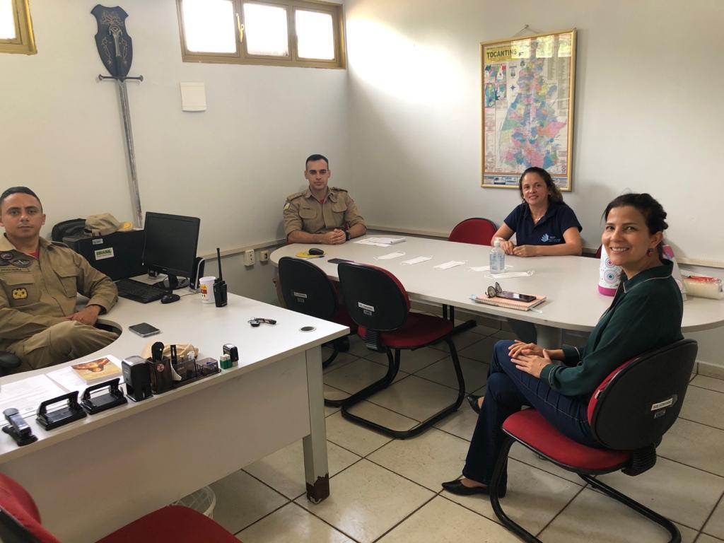 HGP e Corpo de Bombeiros se reúnem para tratar sobre treinamento de Covid-19