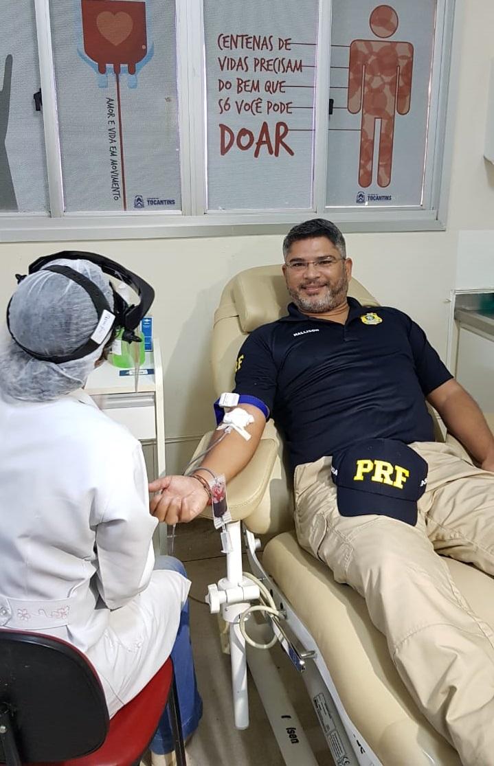 Campanha de doação de sangue PRF
