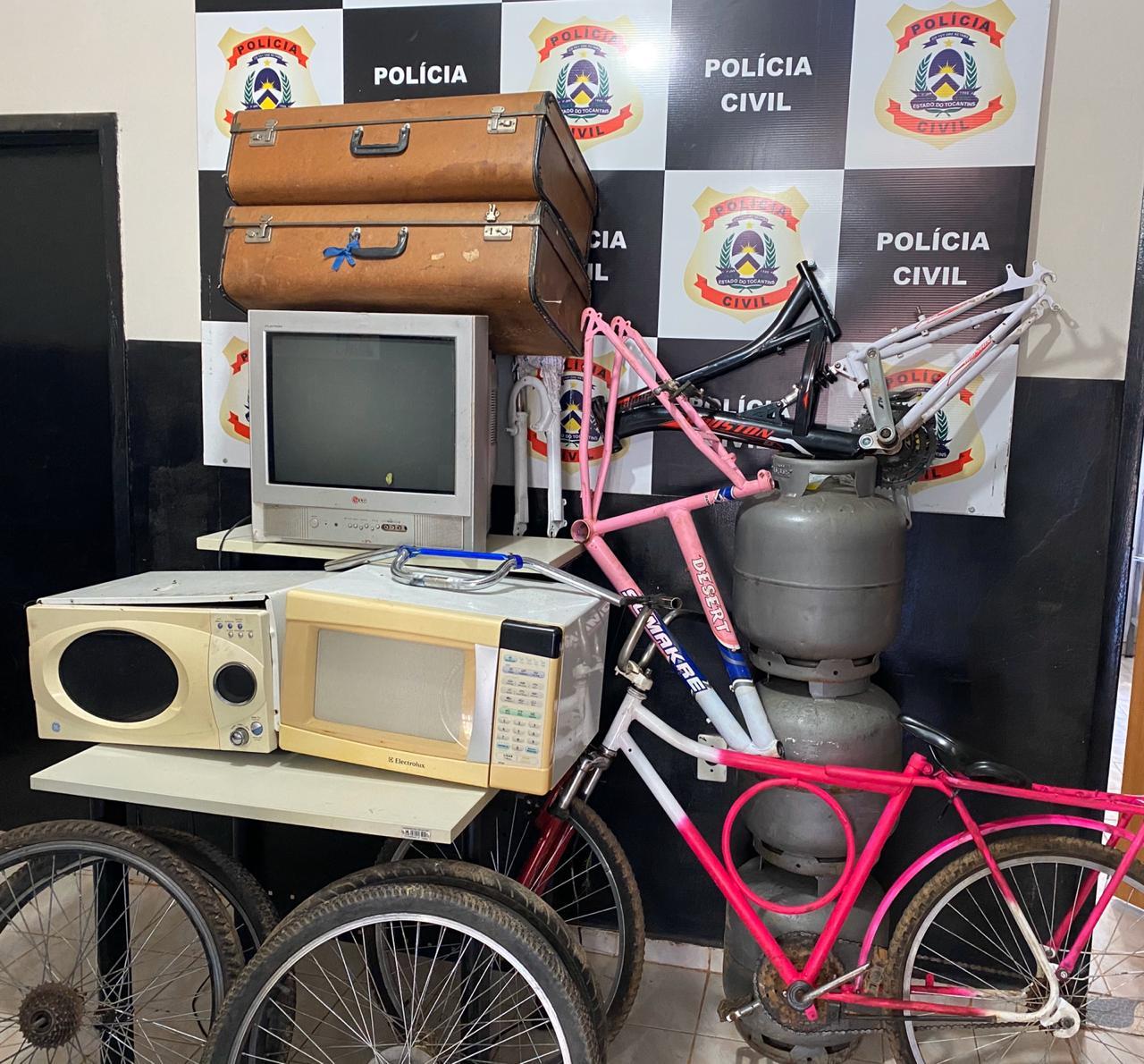 Polícia Civil recupera vários objetos furtados em Taguatinga