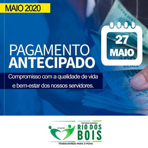 Prefeitura de Rio dos Bois antecipa pagamento de maio aos servidores públicos municipais
