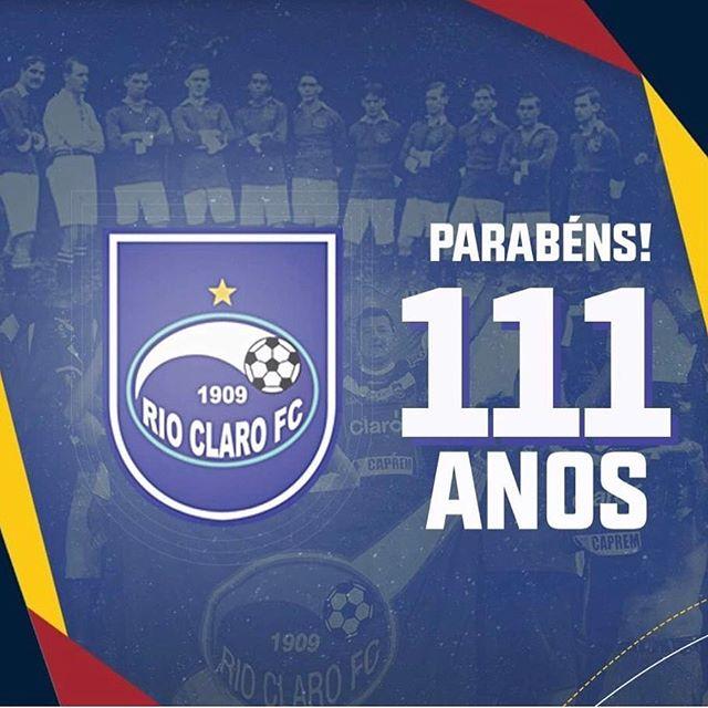 Rio Claro comemora 111 anos com celebração virtual; Base será foco do clube, diz presidente