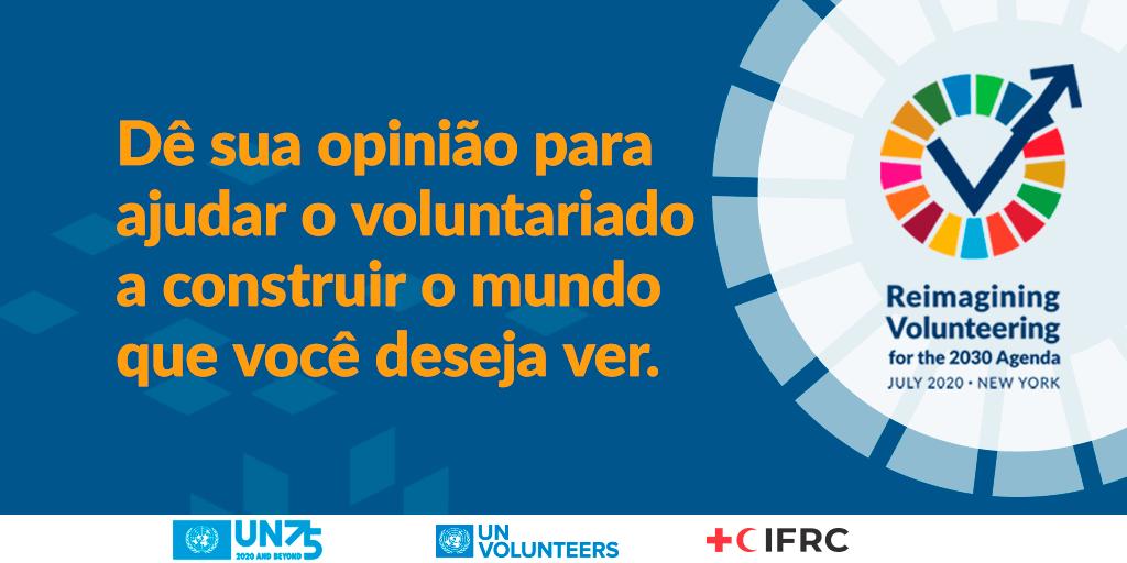 ONU lança pesquisa global para saber como voluntariado pode ajudar moldar o mundo