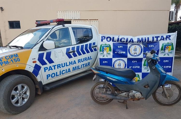 4ª CIPM recupera, em Lagoa da Confusão, motocicleta furtada em Cristalândia