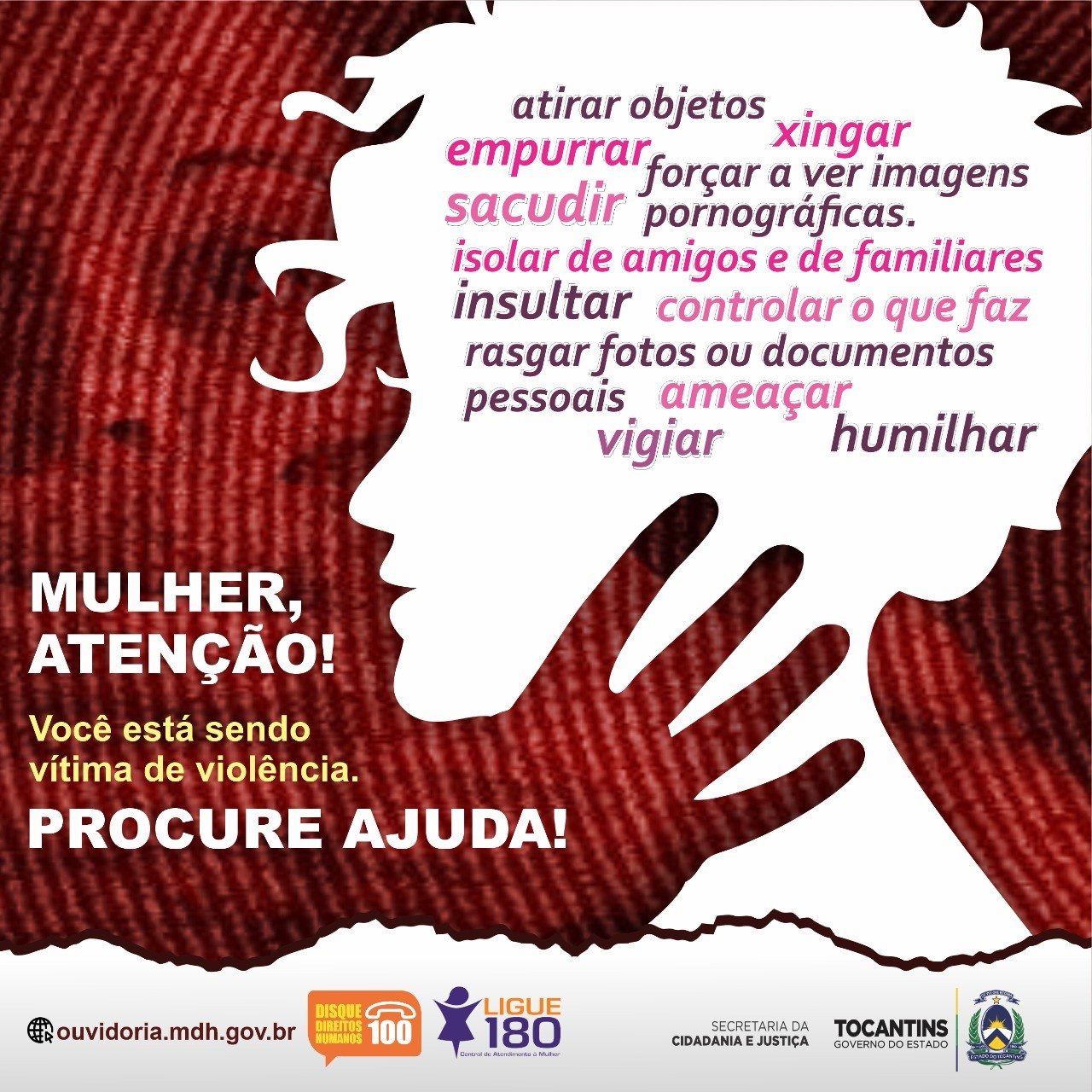 Números de registros de violência contra mulher caem no Tocantins; Cidadania e Justiça reforça necessidade de denunciar