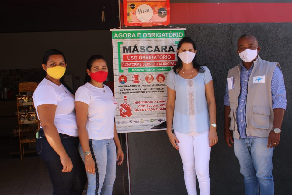 Prefeitura de Cristalândia promove ações para conscientizar população sobre uso de máscaras