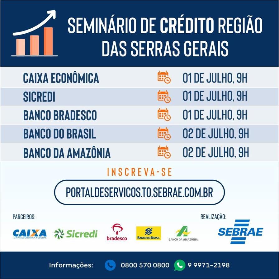 Empresários da região das Serras Gerais recebem Seminário do Crédito nesta semana