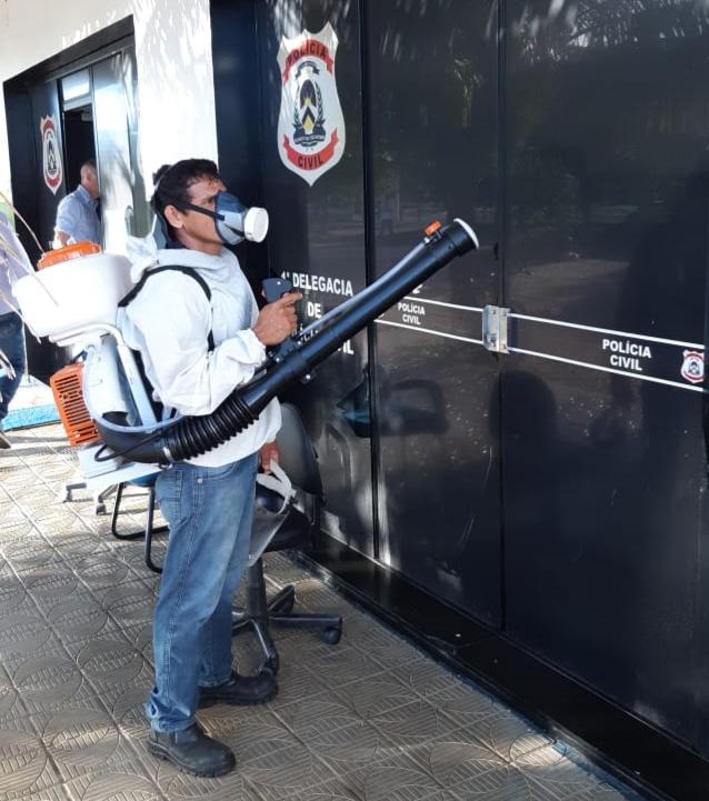 Para prevenir Covid-10, Segurança Pública prossegue com ações de higienização em suas unidades