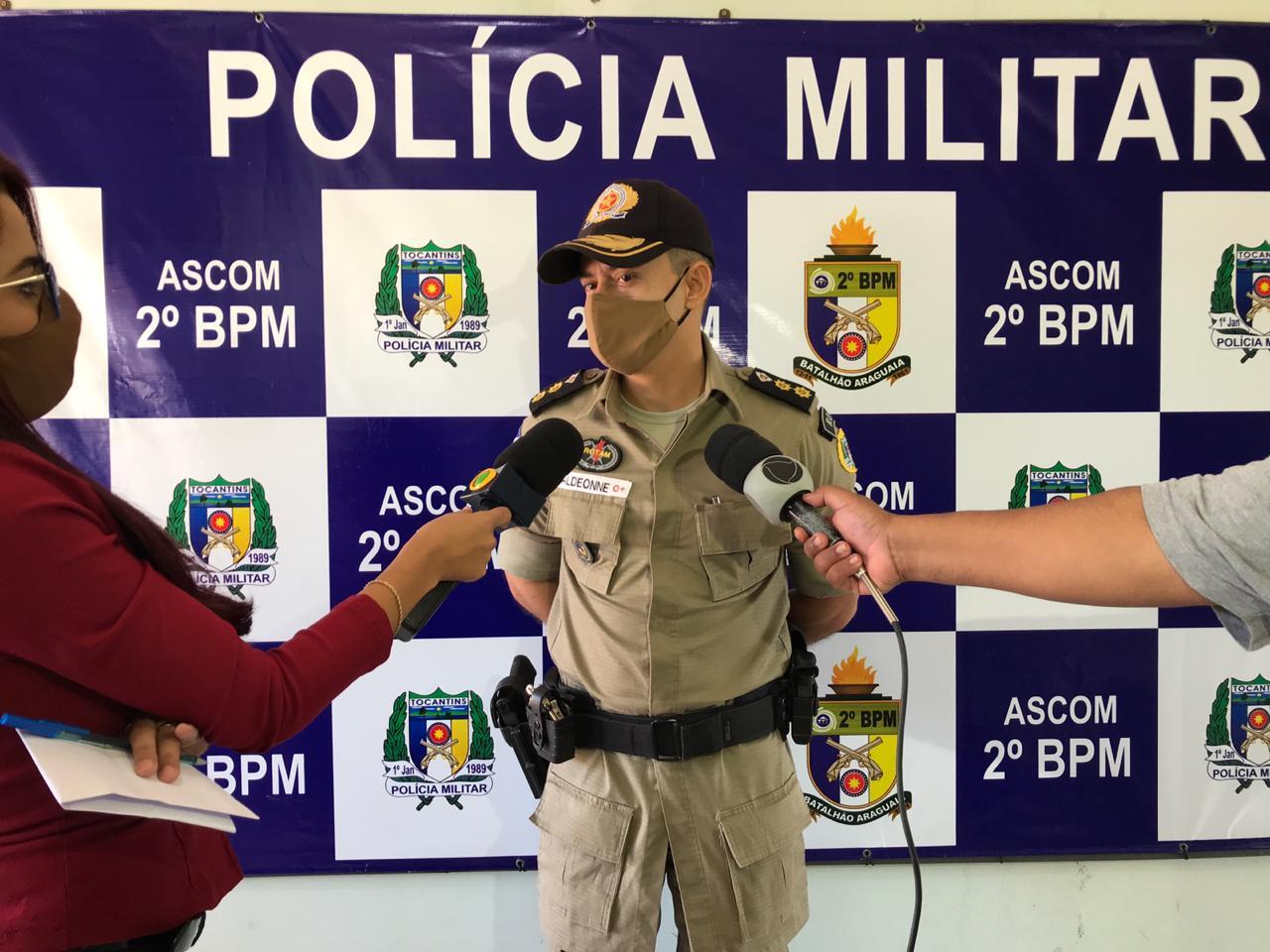 Comandante do 2° BPM participa de coletiva de imprensa em Araguaína