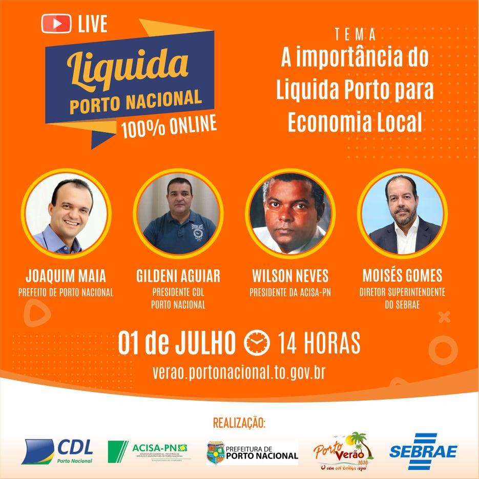Moisés Gomes participa de live sobre Liquida Porto nesta quarta