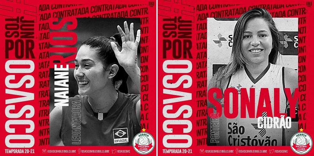 Naiane e Sonaly são os novos reforços do Osasco Audax/São Cristóvão Saúde