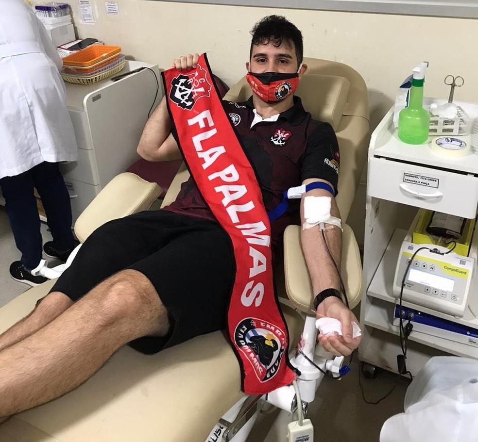 """Torcedores do Flamengo finalizam campanha para doação de sangue em Palmas: """"Além das quatro linhas"""""""