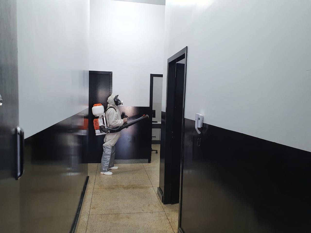 Higienização em prédios da Polícia Civil é uma das prioridades nas ações de combate à Covid-19