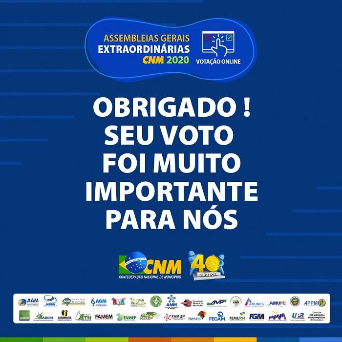 Assembleias virtuais da CNM encerraram com aprovação de ações que beneficiam os Municípios