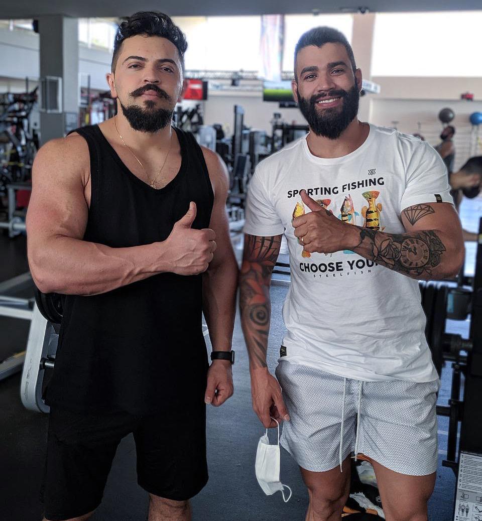 Marombas: Henrique Casttro e Gusttavo Lima exibem boa forma durante treino nesse sábado