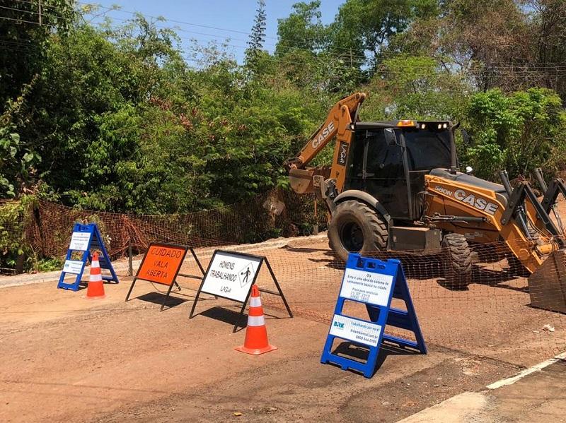 Confira o cronograma das obras de saneamento da BRK em Gurupi para primeira semana de março