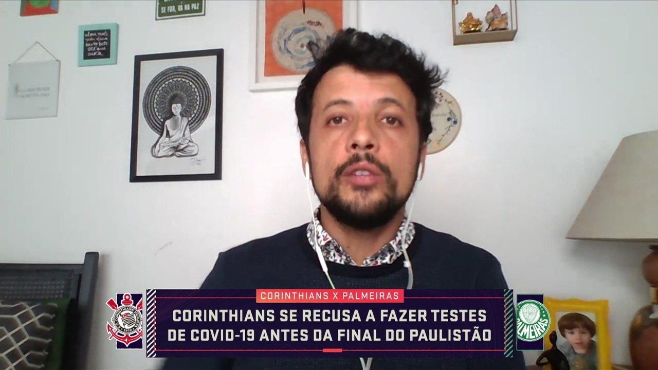Corinthians se recusa a fazer exames da Covid-19 antes das finais contra Palmeiras