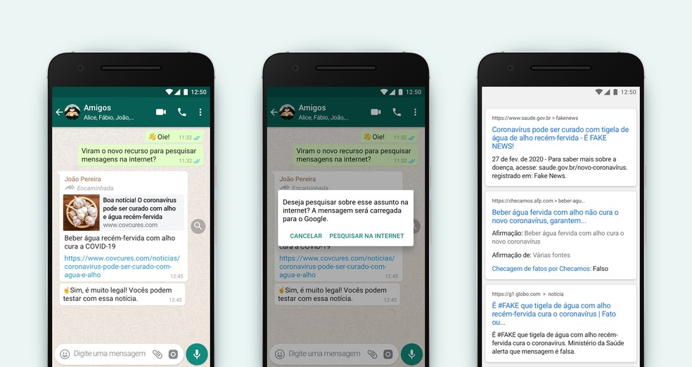 WhatsApp anuncia nova função: recurso para pesquisar mensagens no Google