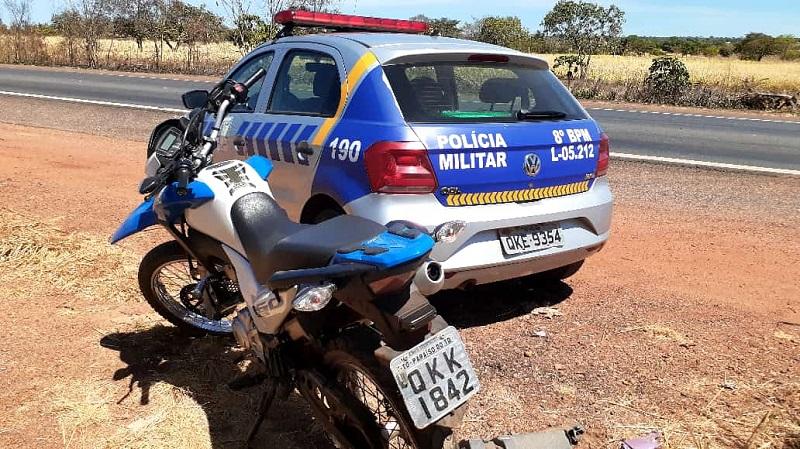 Moto roubada em Paraíso é recuperada pela PM em Barrolândia