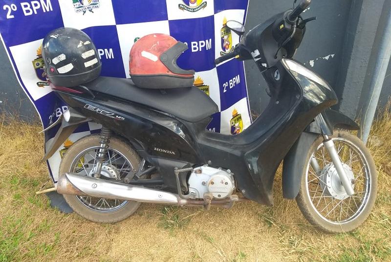 PM recupera uma moto e apreende dois adolescentes em Araguaína