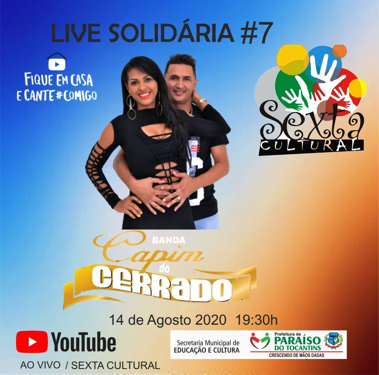 Live Solidária da Sexta Cultural terá show do Capim do Cerrado nesta sexta-feira