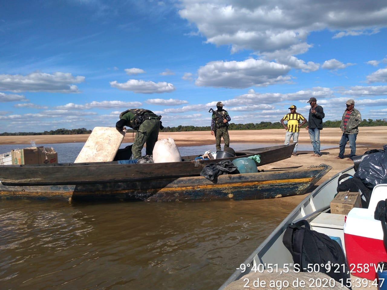 Patrulhamento no Parque Estadual do Cantão apreende redes, armadilhas, peixes e até arma de fogo