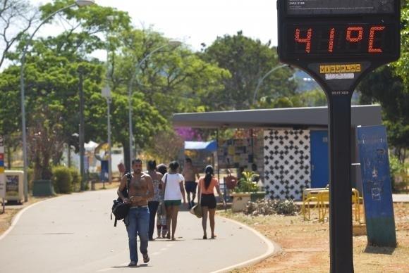 Cinco cidades do Tocantins entraram no ranking de maiores temperaturas do país nas últimas 24h
