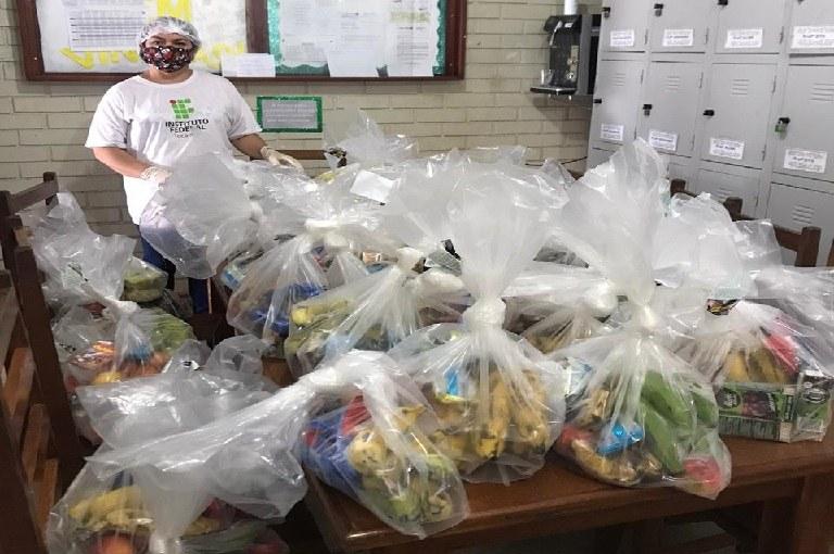 IFTO distribuirá kits de alimentação para estudantes em Paraíso, Pugmil e Nova Rosalândia