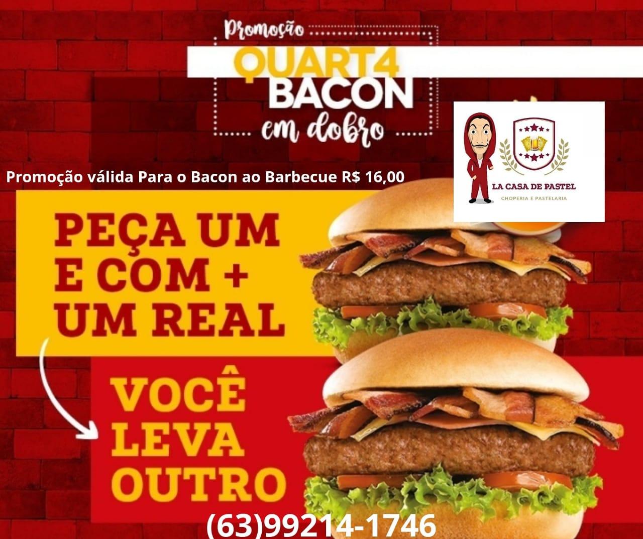 La Casa de Pastel anuncia mais uma rodada da promoção 'Quarta Bacon em Dobro' em Paraíso