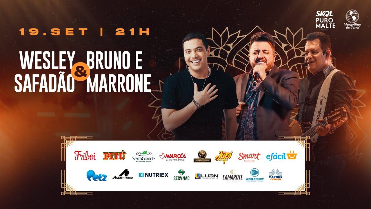 Wesley Safadão e Bruno & Marrone se apresentam em live neste sábado