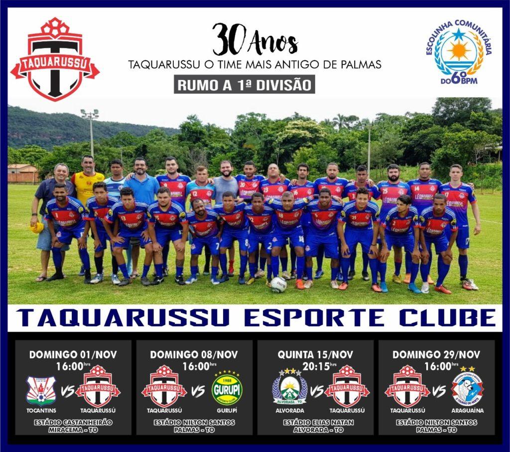 Taquarussu E.C. será representante da capital no campeonato estadual da segunda divisão