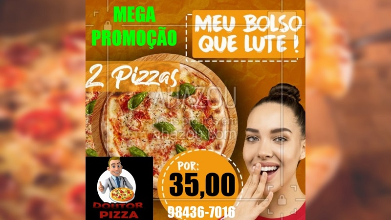 Doutor Pizza anuncia mega promoção em Paraíso: 2 pizzas G por R$ 35,00