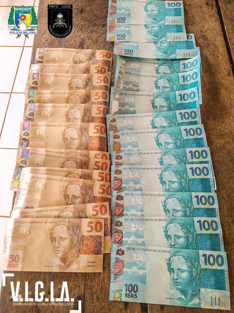 Polícia Militar prende homem com 2 mil reais em moeda falsa em Araguacema