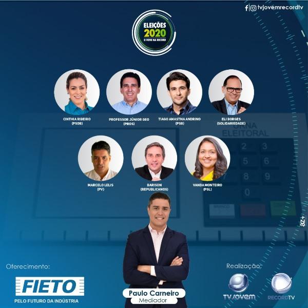 Record TV Tocantins realiza o primeiro debate entre os candidatos a prefeitura de Palmas nesta sexta, 30