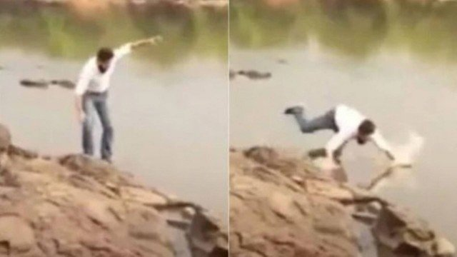 Candidato a prefeito de Ji-Paraná-RO cai em rio durante gravação de propaganda eleitoral; assista