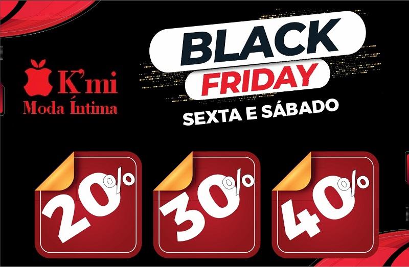 K'mi Moda Íntima anuncia promoção de black friday em Paraíso