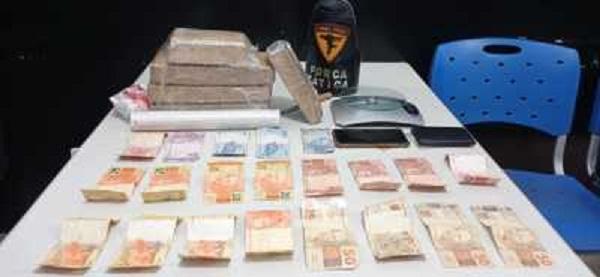 Polícia Militar prende três pessoas por tráfico de drogas em Araguaína, Palmas e Araguatins
