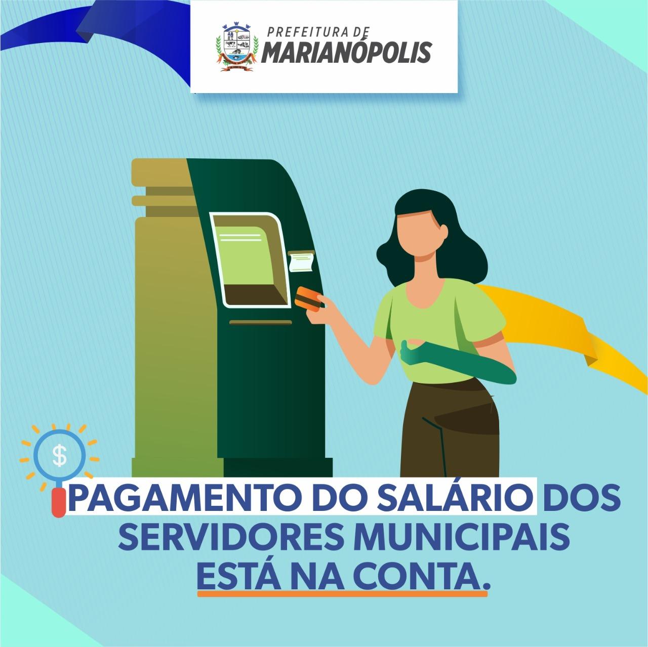 Prefeitura de Marianópolis paga salário de novembro dos servidores nesta segunda