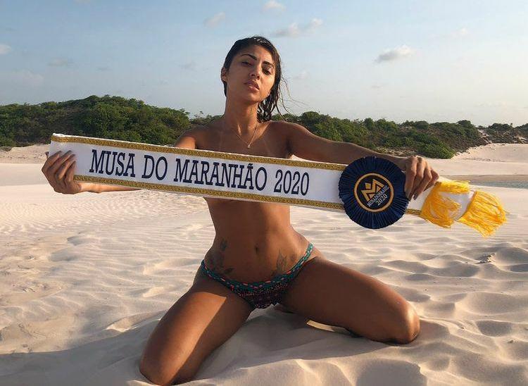 Musa Raquel Onoe brilha em ensaio e comemora boa fase do Sampaio Correa