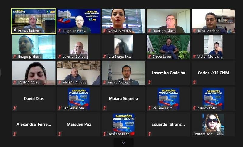 Mobilizados pela ATM, prefeitos(as) eleitos(as) do Tocantins participam de encontro online para discutir municipalismo e desafios