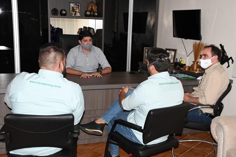 Prefeito Celso Morais recebe visita de novos empresários