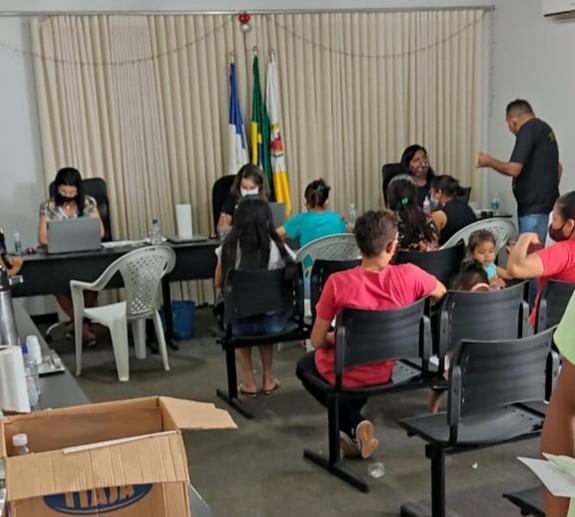Instituto de Identificação promove ação cidadã para montagem de processos para emissão de Carteira de Identidade em Campos Lindos