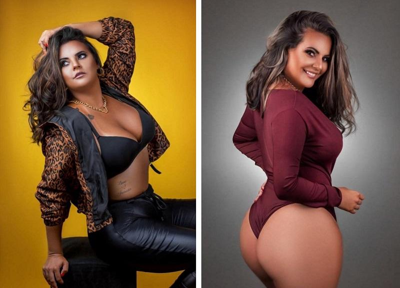 Modelo Jéssica Vargas realiza novo ensaio sensual