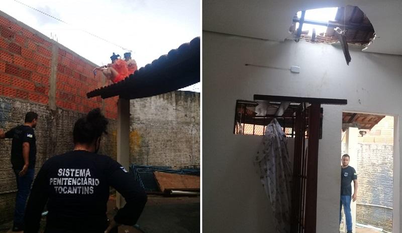 Detentas são flagradas tentando fugir pelo telhado da Unidade Feminina de Palmas