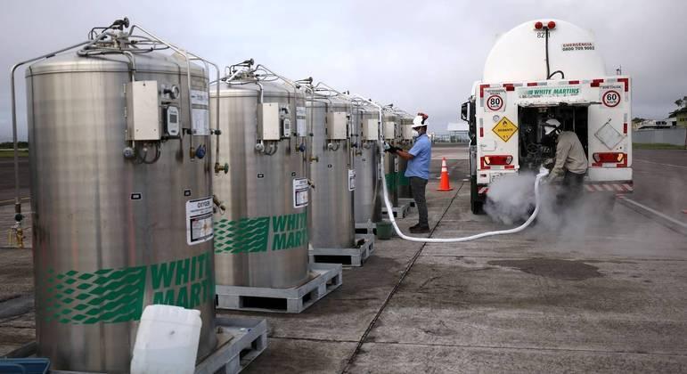 Amazonas recebe oxigênio e espera normalizar o abastecimento