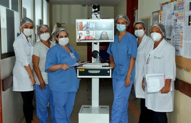 Projeto de Telemedicina faz a diferença para crianças internadas na UTI do HGP