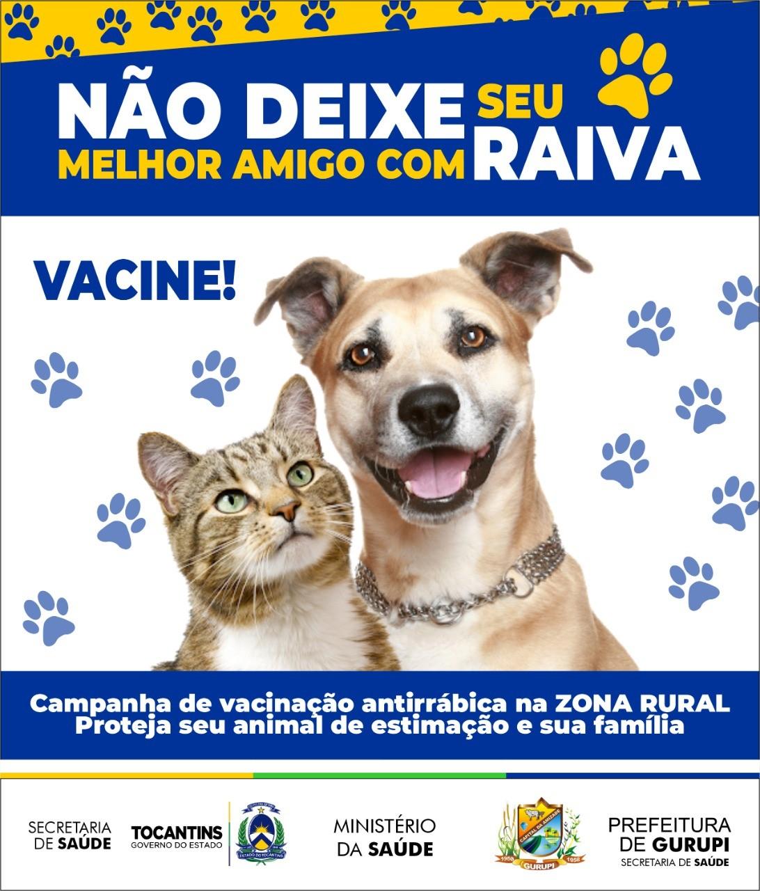 CCZ de Gurupi inicia vacinação antirrábica na zona rural